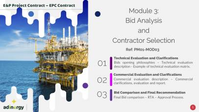 Bid analysis and Contractor selection
