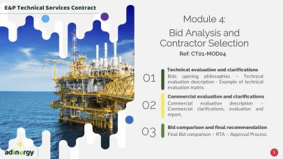 Bids Analysis and Contractor Selection