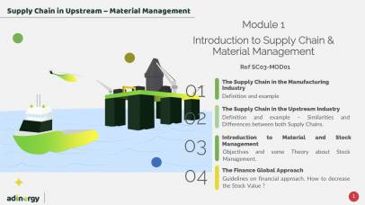 Definition of the Supply Chain & Introduction to Materiel Management