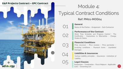 EPC Contract clauses and specificities