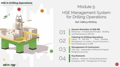 H2SE Management System for Drilling Operations