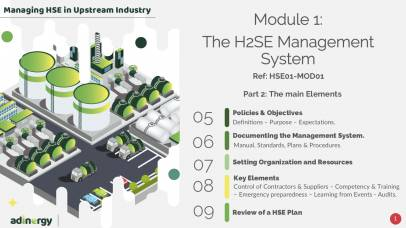 Part 2 of the H2SE Management System: The main Elements