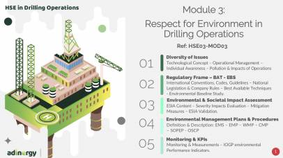 Respect for Environment in Drilling Operations